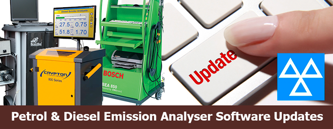 Petrol & Diesel Emission Analyser Software Updates
